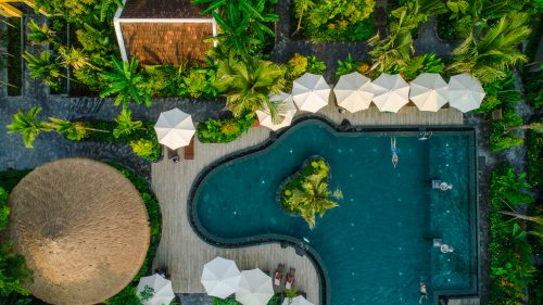 Salt Water Swimming Pool - Aerial View