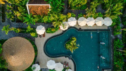 Salt Water Swimming Pool - Aerial View